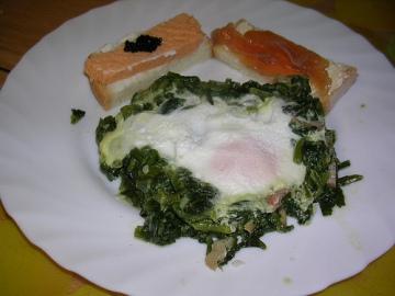 Receta de Huevos florentina